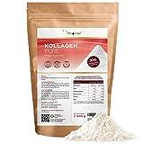 Colágeno en polvo - 600 g - Hidrolizado de colágeno puro sin aditivos - Origen: Alemania - Sabor neutro - Péptidos de colágeno tipo 1 2 3