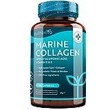 Colágeno Marino Dosis Alta 1000 mg, Ácido Hialurónico, Vitamina C y E | 90 cápsulas | Biodisponibilidad superior | fabricado por Nutravita