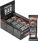 nu3 Barritas de proteínas – Barras deportivas con 40% de proteína sabor chocolate – Mejoradas con whey protein, creatina y creapure – 3.95g de fibra y solo 160 Kcal - 12 x 50g